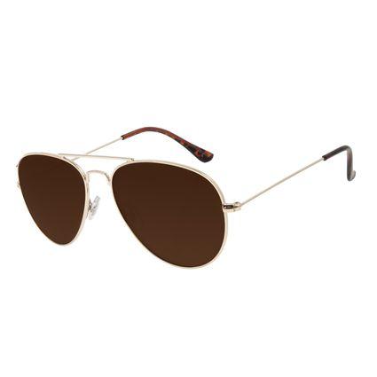 Óculos de Sol Unissex Chilli Beans Aviador Metal Dourado OC.MT.2821-0221