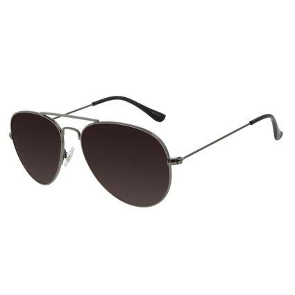 Óculos de Sol Unissex Chilli Beans Aviador Metal Ônix OC.MT.2821-2022