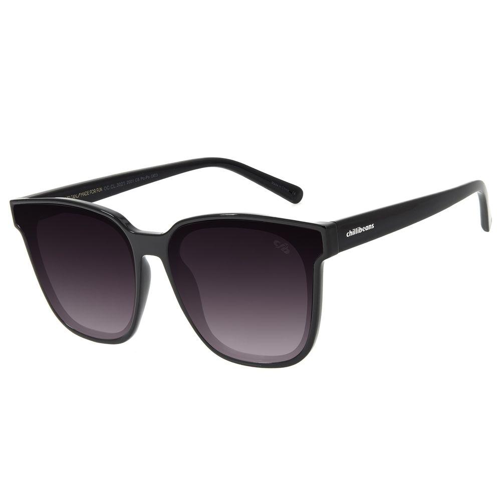 Óculos de Sol Feminino Chilli Beans Quadrado Degradê Preto OC.CL.3021-2001