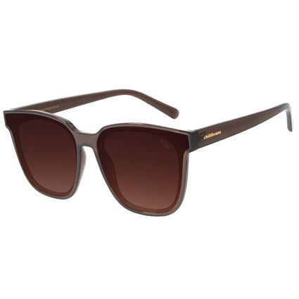 Óculos de Sol Feminino Chilli Beans Quadrado Degradê Marrom  OC.CL.3021-5747