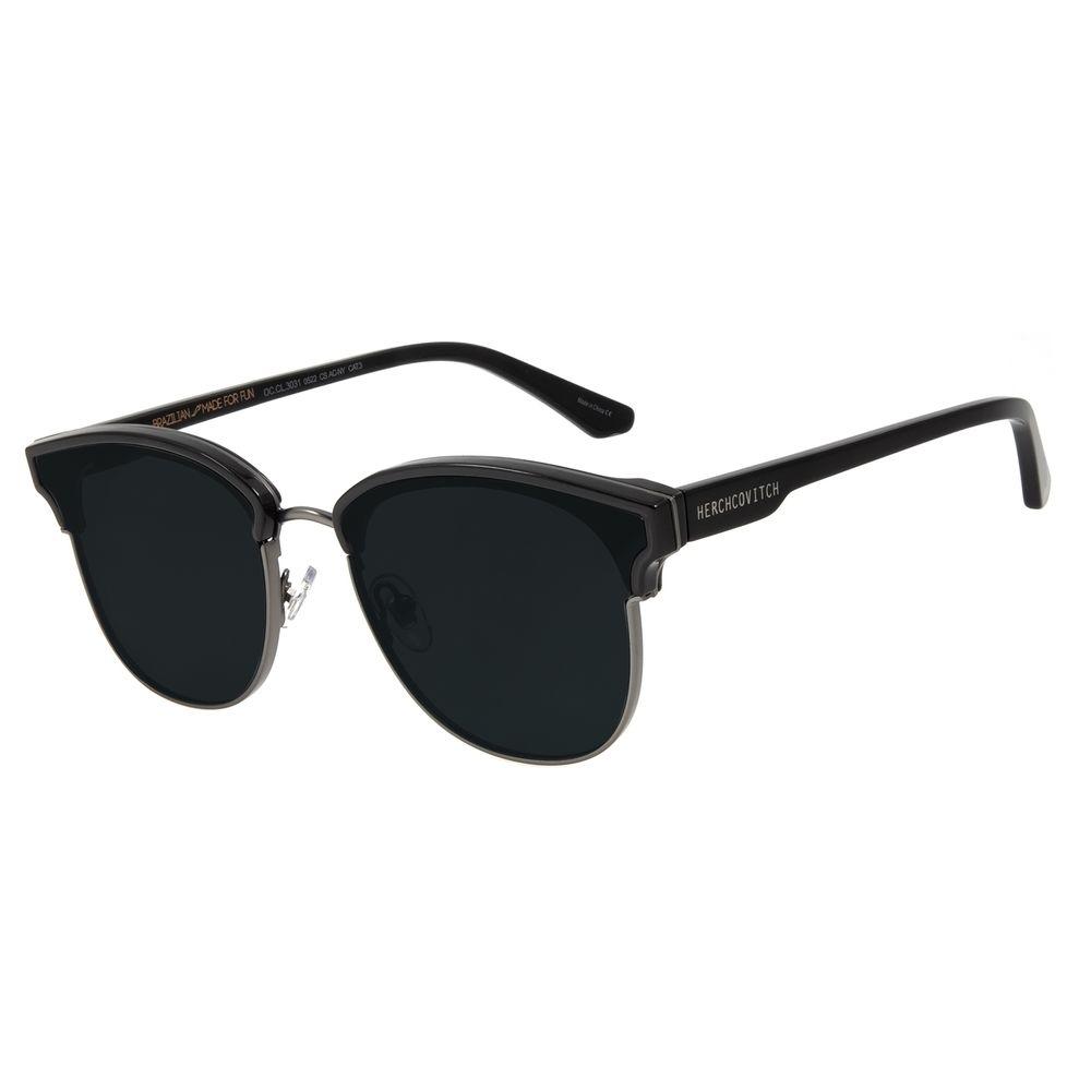 Óculos de Sol Unissex Alexandre Herchcovitch Jazz Ônix OC.CL.3031-0522