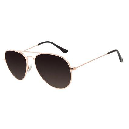 Óculos de Sol Unissex Chilli Beans Aviador Metal Rose OC.MT.2821-2095