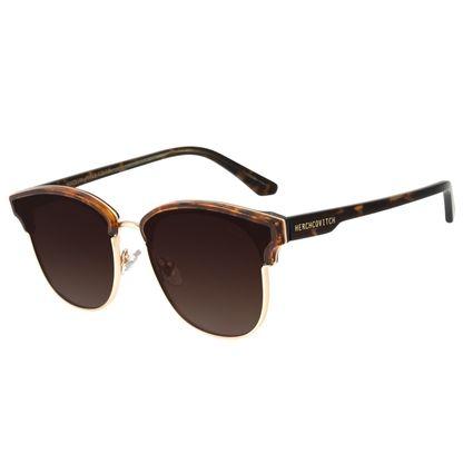 Óculos de Sol Unissex Alexandre Herchcovitch Jazz Degradê Marrom OC.CL.3031-5721