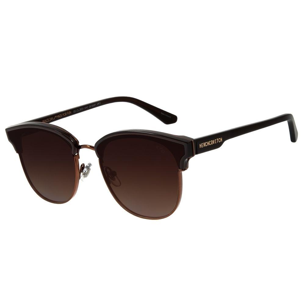 Óculos de Sol Unissex Alexandre Herchcovitch Jazz Marrom OC.CL.3031-5747