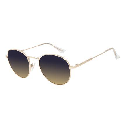 Óculos de Sol Unissex Lollapalooza Brasil Melomania Metal Dourado OC.MT.2820-8321