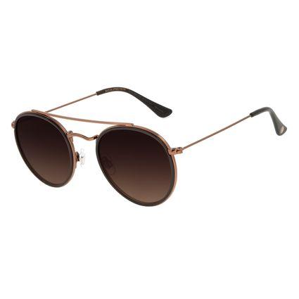 Óculos de Sol Unissex Chilli Beans Redondo Marrom OC.CL.3060-5747