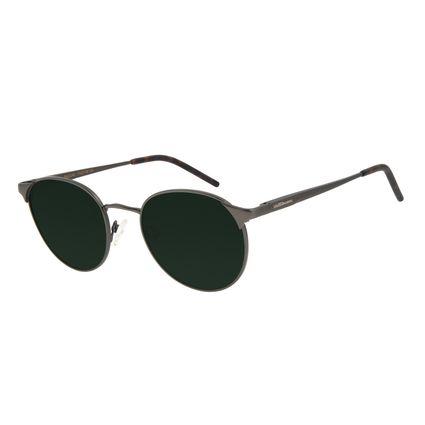 Óculos de Sol Unissex Chilli Beans Redondo Ônix Polarizado OC.MT.2301-1522