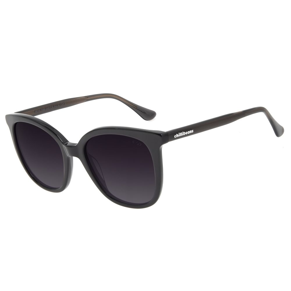 Óculos de Sol Feminino Chilli Beans Redondo Preto OC.CL.3084-2001