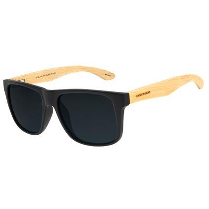 Óculos de Sol Unissex Chilli Beans Bamboo Bossa Nova Preto Polarizado OC.CL.3185-0101