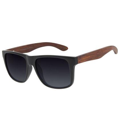 Óculos de Sol Unissex Chilli Beans Bamboo Bossa Nova Degradê Preto Polarizado OC.CL.3185-2001