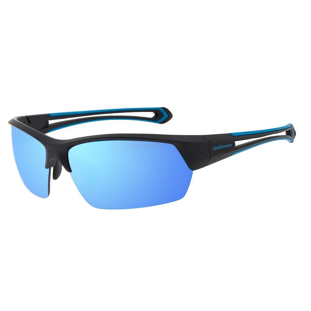 Óculos de Sol Masculino Chilli Beans Flutuante Azul Espelhado OC.ES.1236-9101