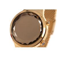Relógio Digital Feminino Funk-se Ludmilla Facetado Metal Dourado RE.MT.1163-2121.5