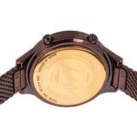 Relógio Digital Feminino Funk-se Ludmilla Facetado Metal Marrom RE.MT.1163-9502.7