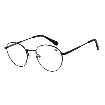Armação Para Óculos de Grau Unissex Chilli Beans Redondo Preto LV.MT.0307-0131