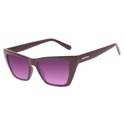 Óculos de Sol Feminino Funk-se Ludmilla Gatinho Vinho OC.CL.3162-0717