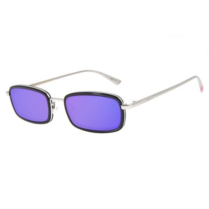 Óculos de Sol Feminino Funk-se Ludmilla Quadrado Prata OC.CL.3172-1121