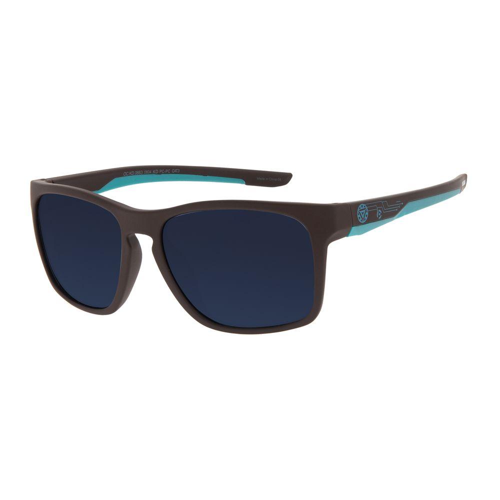 Óculos de Sol Infantil Marvel Homem de Ferro Quadrado Cinza OC.KD.0663-0804