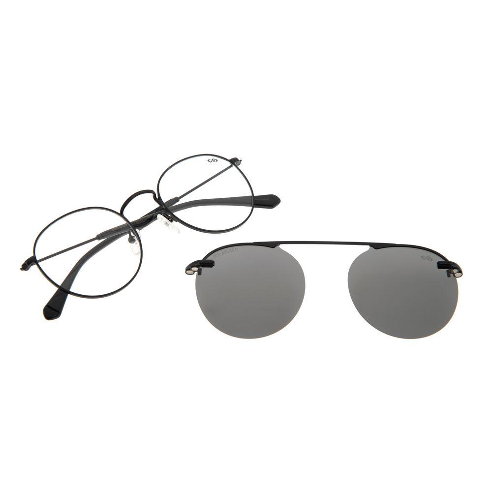 Armação Para Óculos de Grau Unissex Alok Polarizado Preto LV.MU.0328-2001