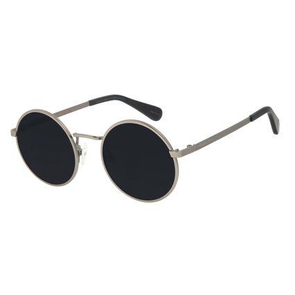 Óculos de Sol Infantil Marvel Redondo Homem de Ferro Ônix OC.KD.0681-0122