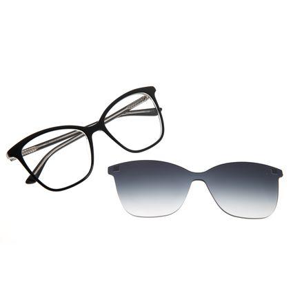 Armação Para Óculos de Grau Feminino Chilli Beans Multi Quadrado Preto LV.MU.0418-2001