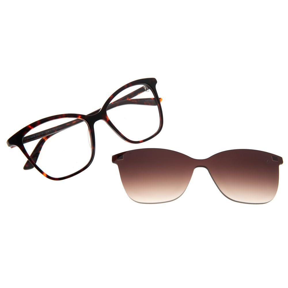 Armação Para Óculos de Grau Feminino Chilli Beans Multi Quadrado Tartaruga LV.MU.0418-5706