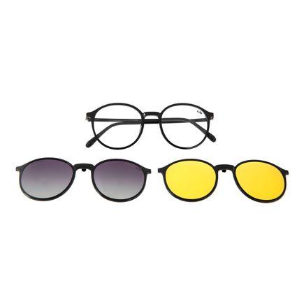 Óculos de Grau Unissex Chilli Beans Multi Lente Preto Polarizado LV.MU.0506-2001
