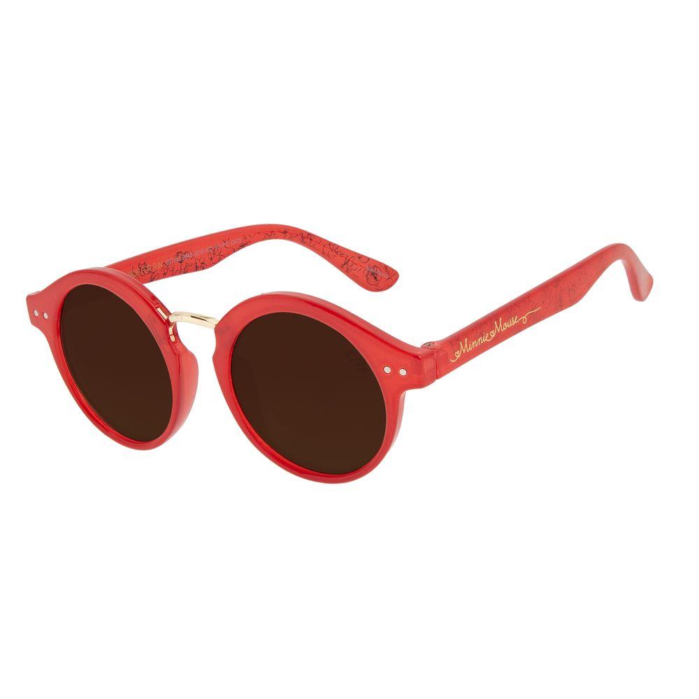 Óculos de Sol Infantil Disney Minnie Redondo Vermelho OC.KD.0648-0216