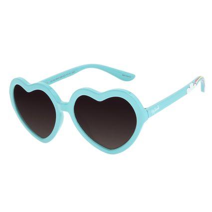 Óculos de Sol Infantil Disney Minnie Coração Azul Claro OC.KD.0649-2059