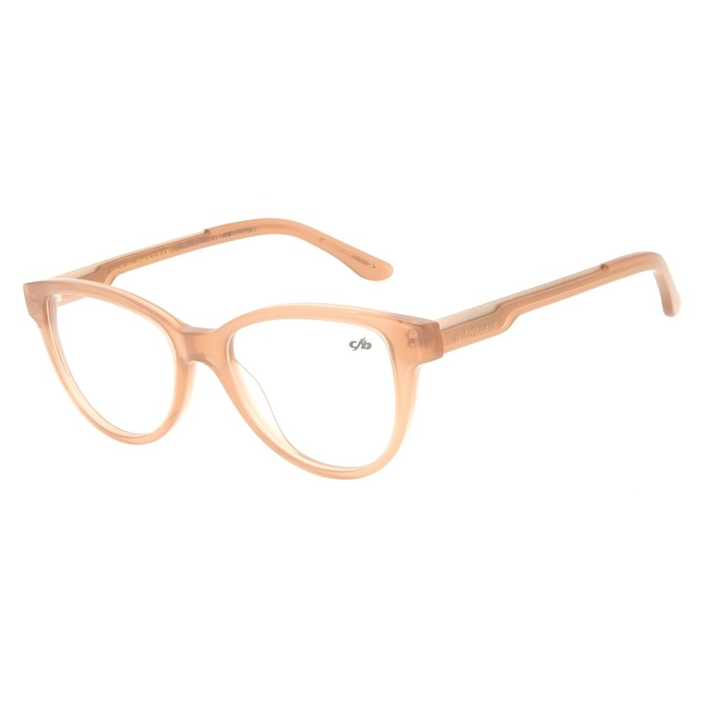 Armação Para Óculos De Grau Feminino Chilli Beans Gatinho Translúcido Marrom LV.AC.0535-0202