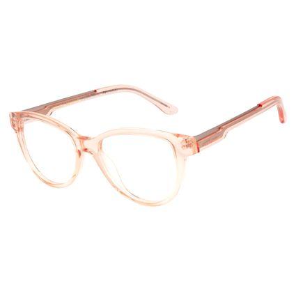 Armação Para Óculos De Grau Feminino Chilli Beans Gatinho Translúcido Marrom Claro LV.AC.0535-8888