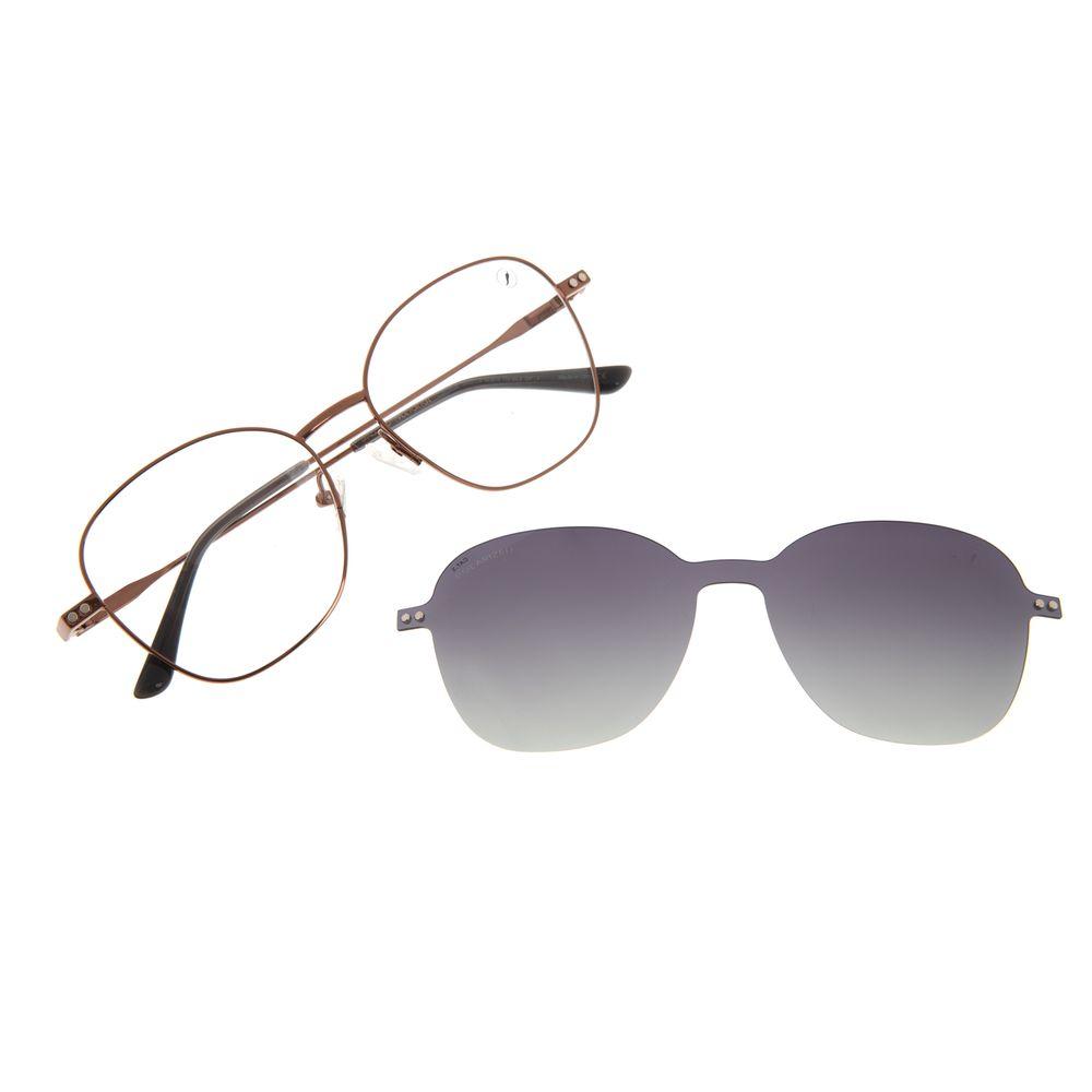 Armação Para Óculos De Grau Feminino Chilli Beans Multi Polarizado Redondo Marrom LV.MU.0520-2002