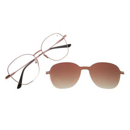 Armação Para Óculos De Grau Feminino Chilli Beans Multi Polarizado Redondo Rosé LV.MU.0520-5795