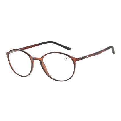 Armação Para Óculos de Grau Unissex Chilli Beans Redondo Marrom LV.IJ.0185-0202