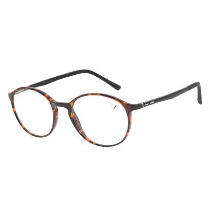 Armação Para Óculos de Grau Unissex Chilli Beans Redondo Tartaruga LV.IJ.0185-0601