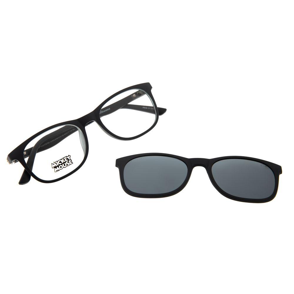 Armação Para Óculos de Grau Infantil Mickey Mouse Multi Preto LV.MU.0430-0101