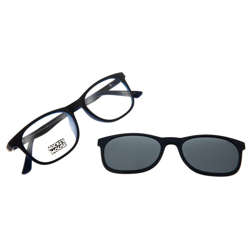 Armação Para Óculos de Grau Infantil Mickey Mouse Multi Azul Escuro LV.MU.0430-9090