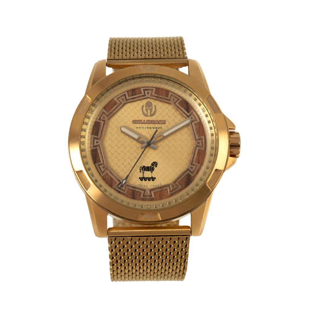 Relógio Analógico Masculino Loucuras da Nobreza Troia Dourado RE.MT.1156-2121