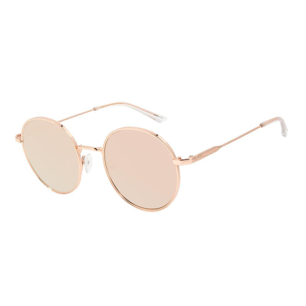 Óculos de Sol Feminino Chilli Beans Banhado a Ouro Redondo Rosé OC.MT.3012-0595