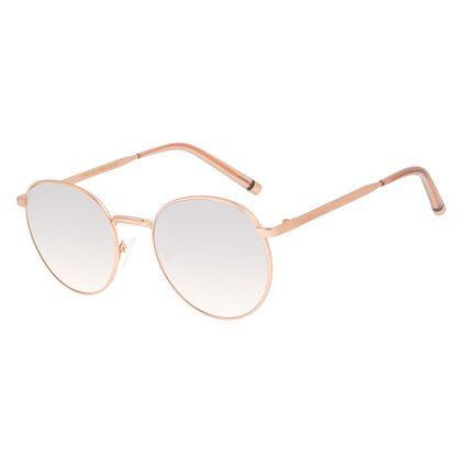 Óculos de Sol Feminino Chilli Beans Banhado a Ouro Redondo Rosé OC.MT.2986-2095