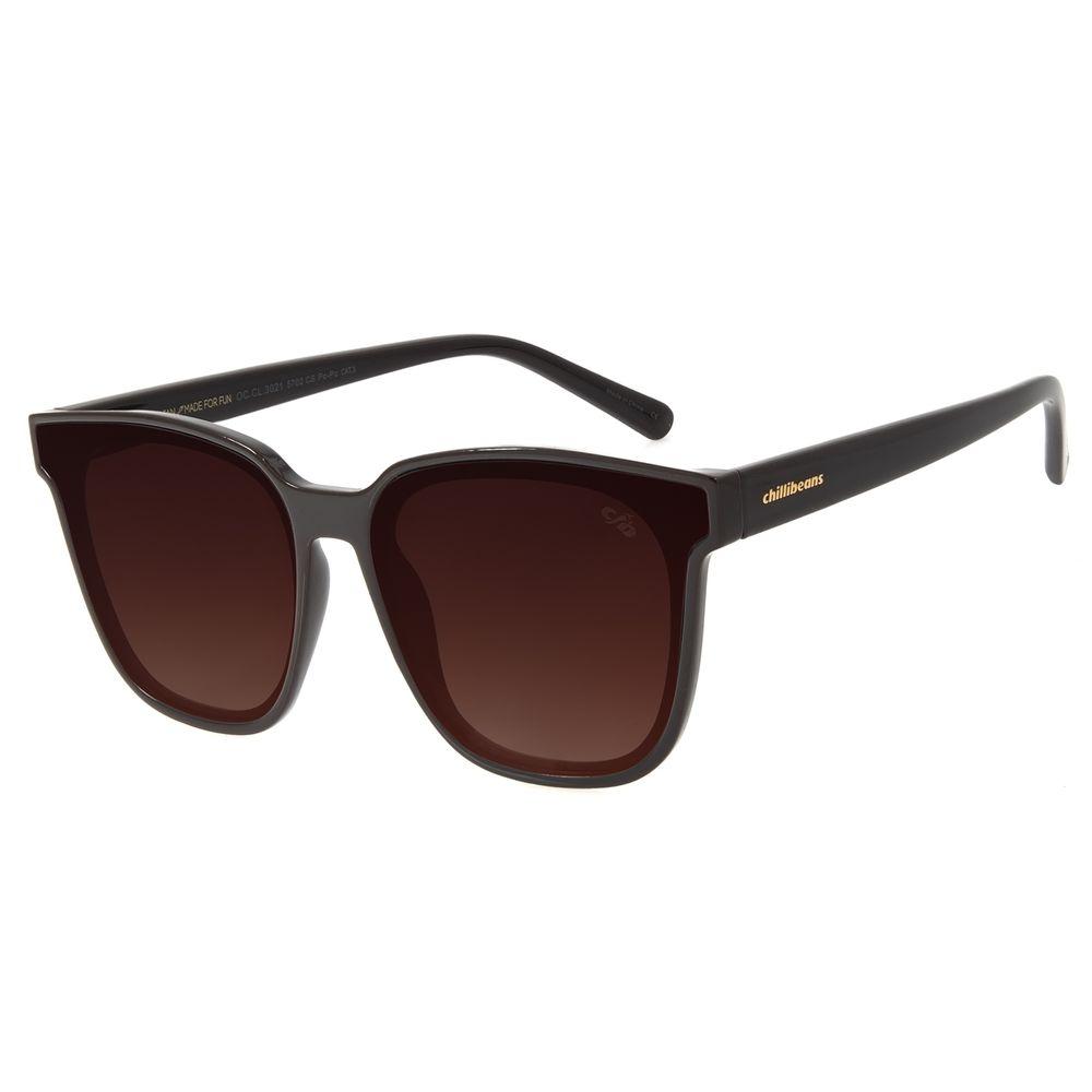 Óculos de Sol Feminino Chilli Beans Quadrado Marrom OC.CL.3021-5702