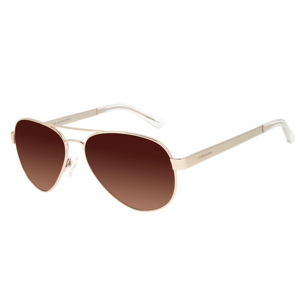 Óculos de Sol Unissex Chilli Beans Aviador Ônix OC.MT.2921-5722