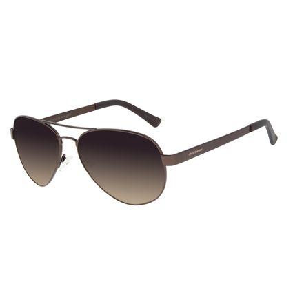 Óculos de Sol Unissex Chilli Beans Aviador Marrom Escuro OC.MT.2921-5747