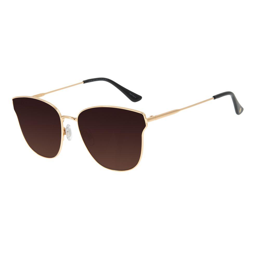 Óculos de Sol Feminino Chilli Beans Quadrado Dourado OC.MT.2913-5721