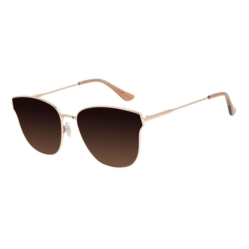 Óculos de Sol Feminino Chilli Beans Quadrado Degradê Marrom OC.MT.2913-5795