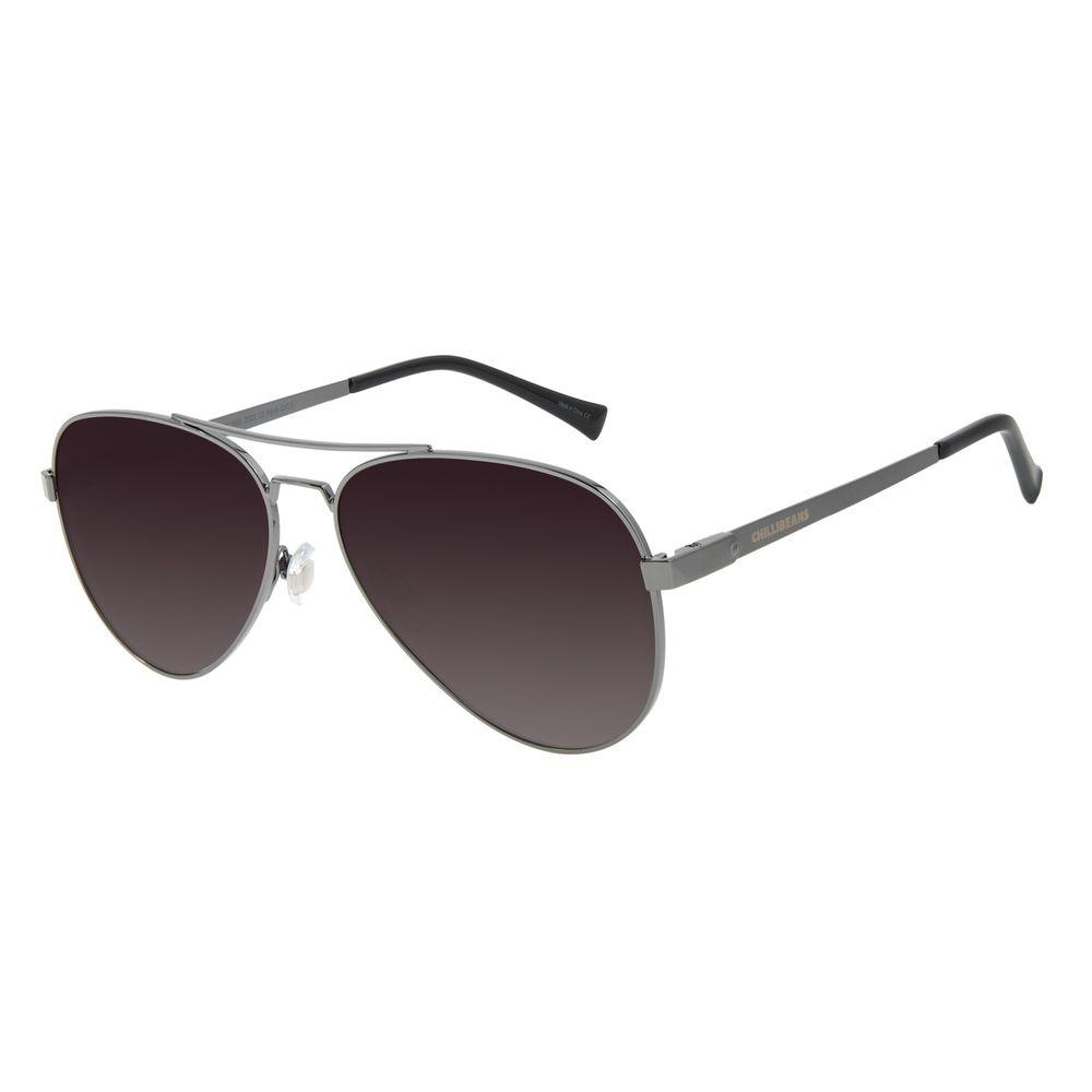 Óculos de Sol Unissex Chilli Beans Aviador Polarizado Degradê OC.MT.2890-2022