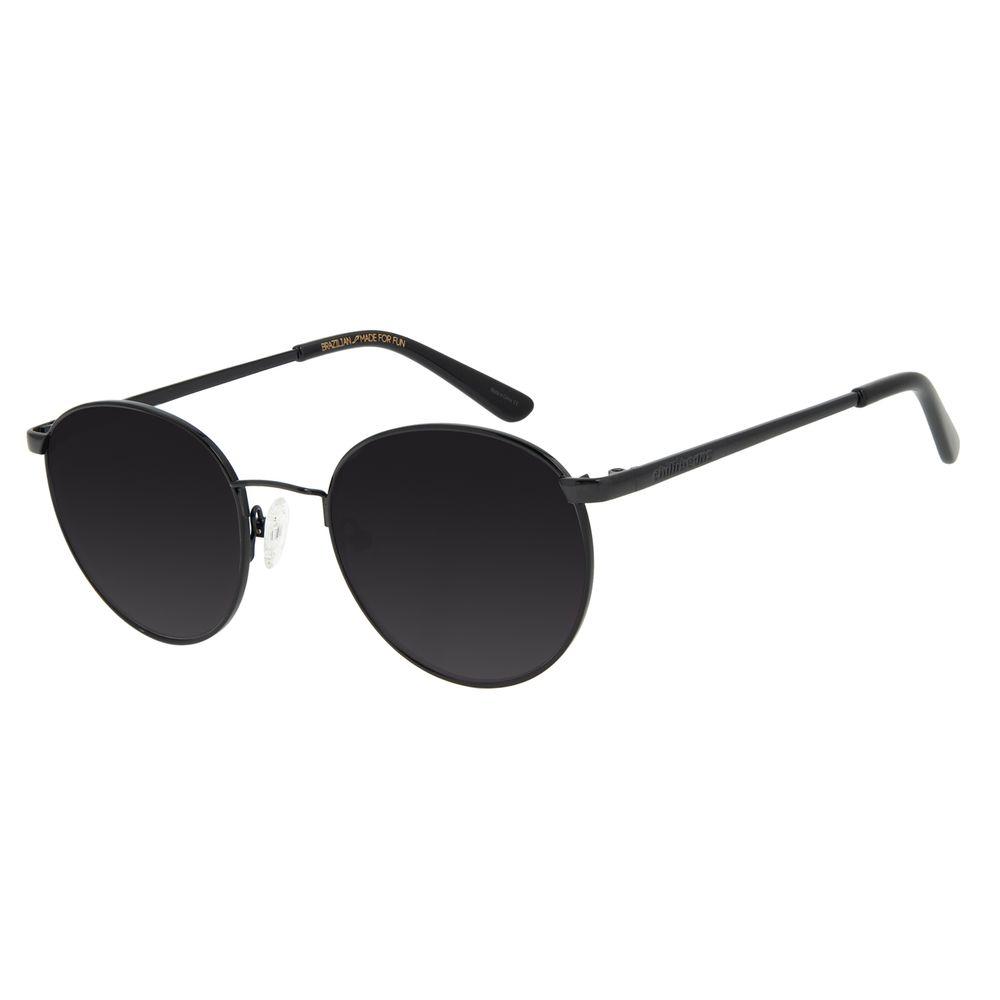 Óculos de Sol Unissex Chilli Beans Redondo Metal Preto OC.MT.2862-0101