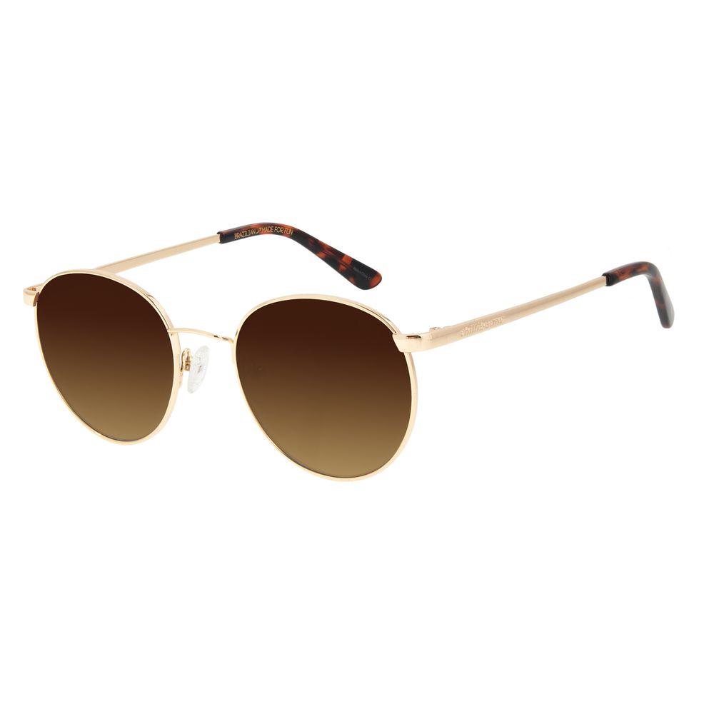 Óculos de Sol Unissex Chilli Beans Redondo Metal Dourado  OC.MT.2862-5721