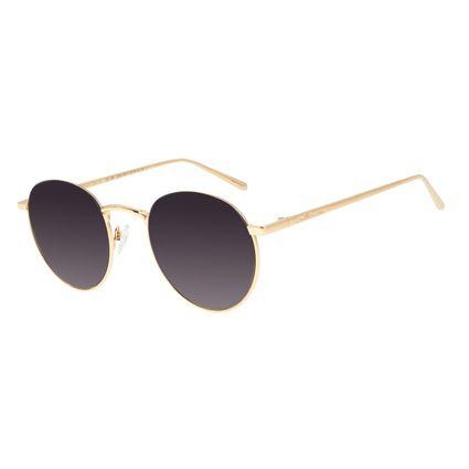 Óculos de Sol Unissex Chilli Beans Fume Banhado A Ouro OC.MT.2590-0521