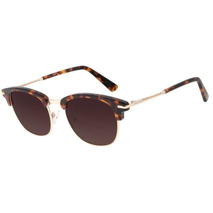 Óculos de Sol Unissex Chilli Beans Jazz Casual Polarizado Tartaruga    OC.CL.2957-5706