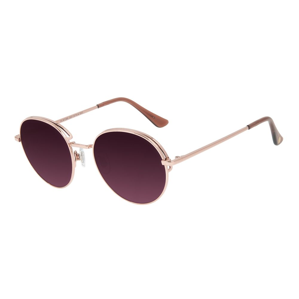 Óculos de Sol Feminino Chilli Beans Redondo Flap Degradê OC.MT.2583-2021